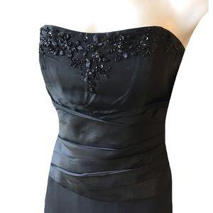 David's Bridal Strapless Dress Size 4